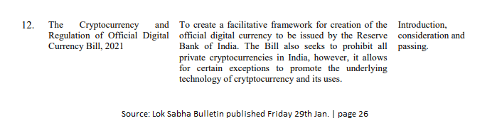 India Seeks Seeking To Prohibit All Private Cryptocurrencies